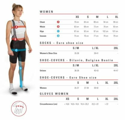 Castelli-womens-sizechart-Eat-Sleep-Cycle